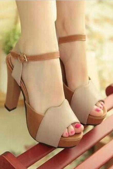 Stylish Peep Toe Sandals