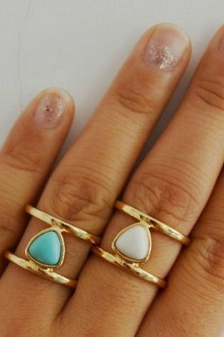 1 Piece Bohemian Turquoise Ring