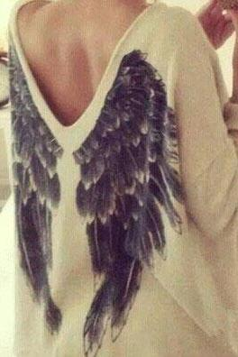 Loose Angel Wings Long sleeve Top
