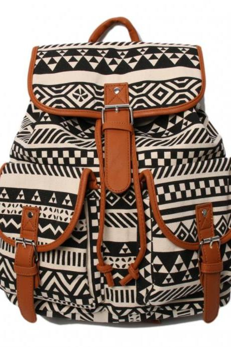 Brown Aztec Backpack