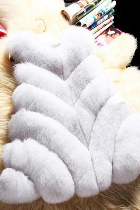 Luxury Faux Fur Winter Over Coat Vest
