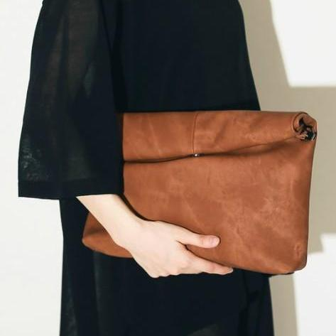 Stylish Ladies Clutch Bag in Grey Black and Brown