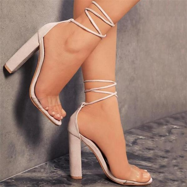 Summer Lace up Suede Sandals