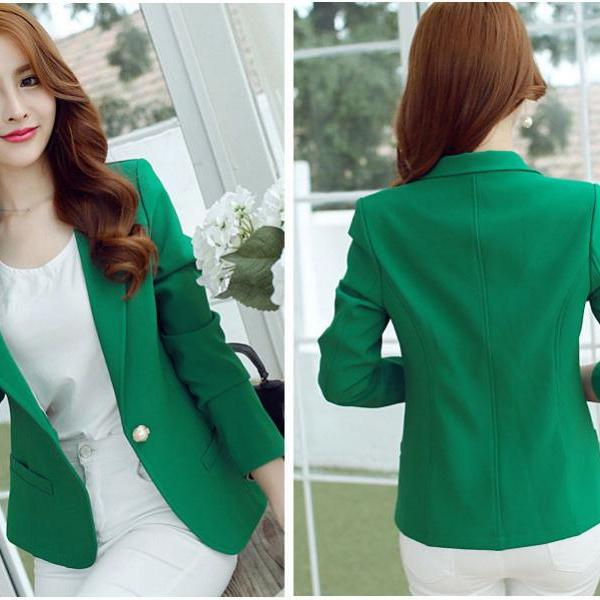 Green Blazer Coat for Women