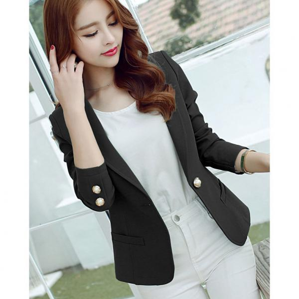 Women's Black Blazer Coat