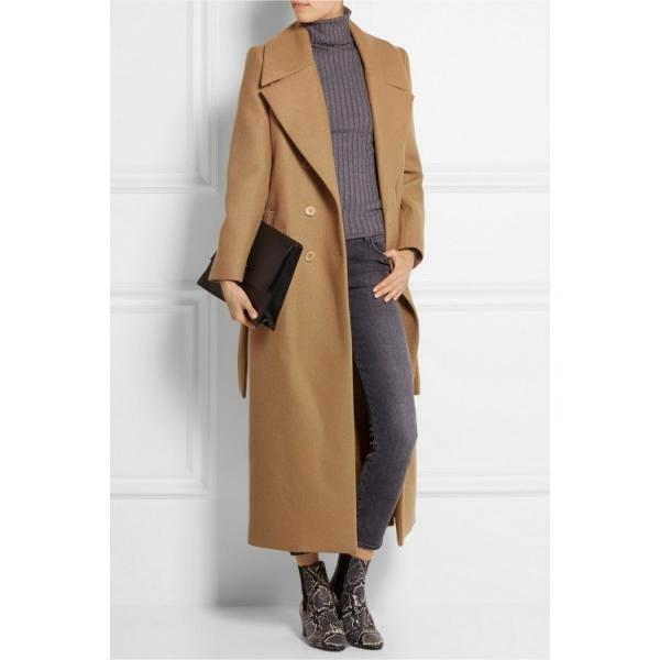 Autumn Winter Classic Simple Wool Trench Winter Coat