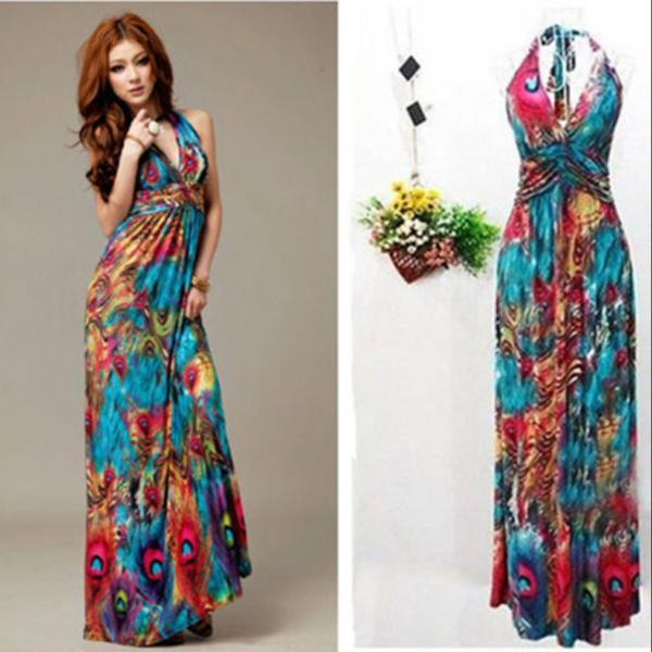 Boho Women Summer Printed Maxi Dress