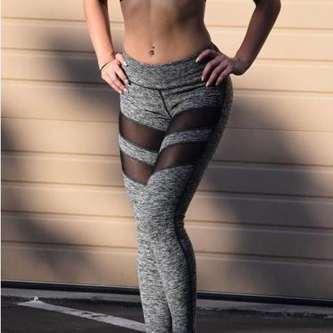 Grey Workout Fitness Leggings