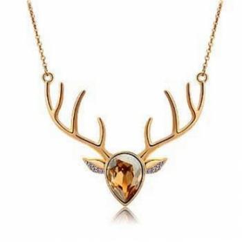 Crystal Deer Necklace