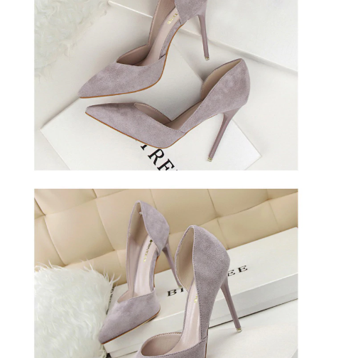 Pointed Toe Suede Classy High Heels Pumps