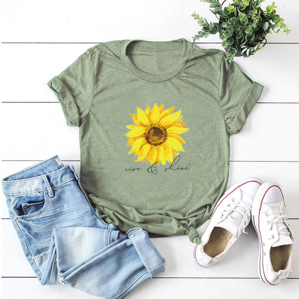 Sun Flower Printed T-shirt
