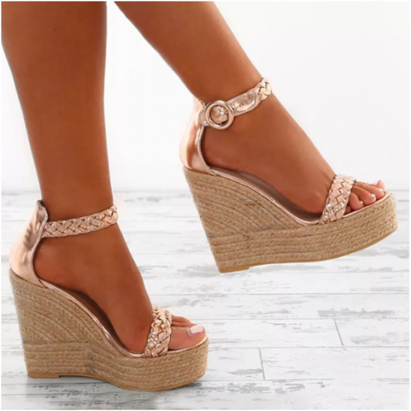 Stylish Peep Toe Ankle Strap High Heels Fashion Sandals