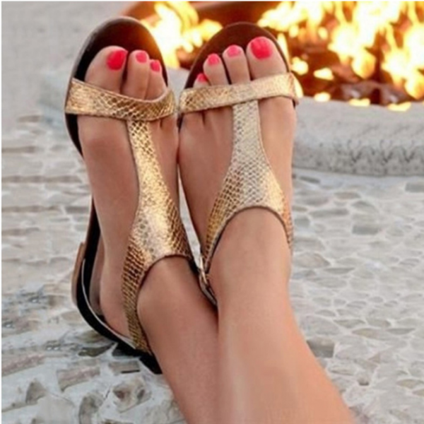 Peep Toe Gladiator Sandals in Silver and Gold