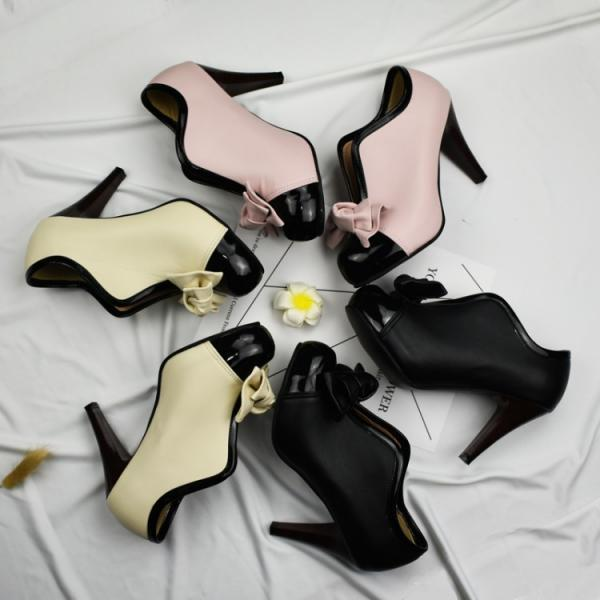 Cute Bows High heels Ankle Boots