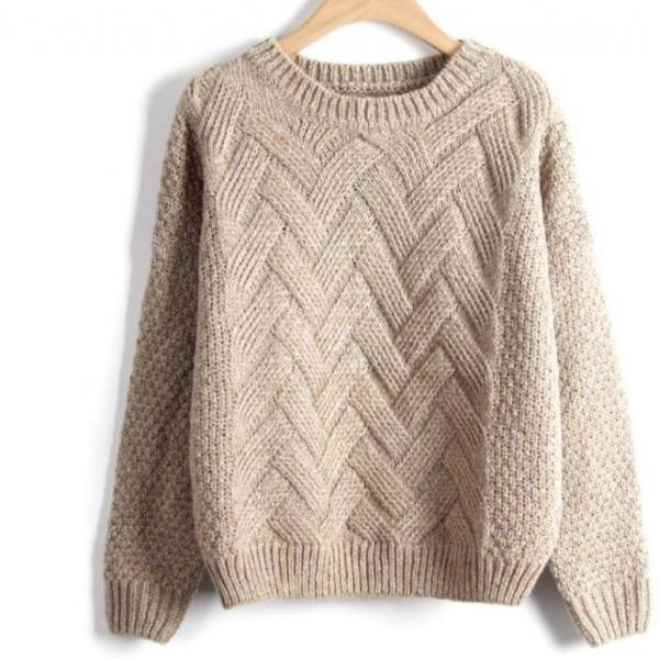 Autumn and Winter Knitted Pullover Sweater