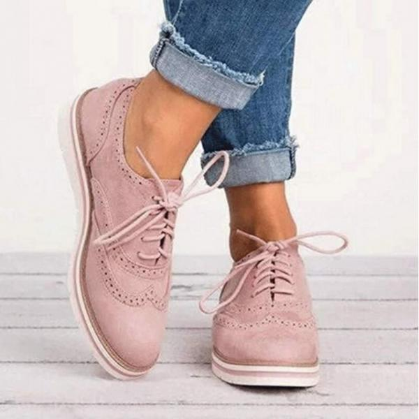 Chic British Style Lace up Oxford Shoes