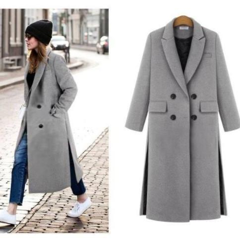 European Style Chic Autumn and Winter Long Coat