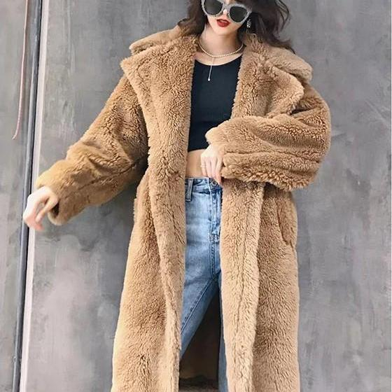 Cozy Winter Faux Fur Warm Long Coat