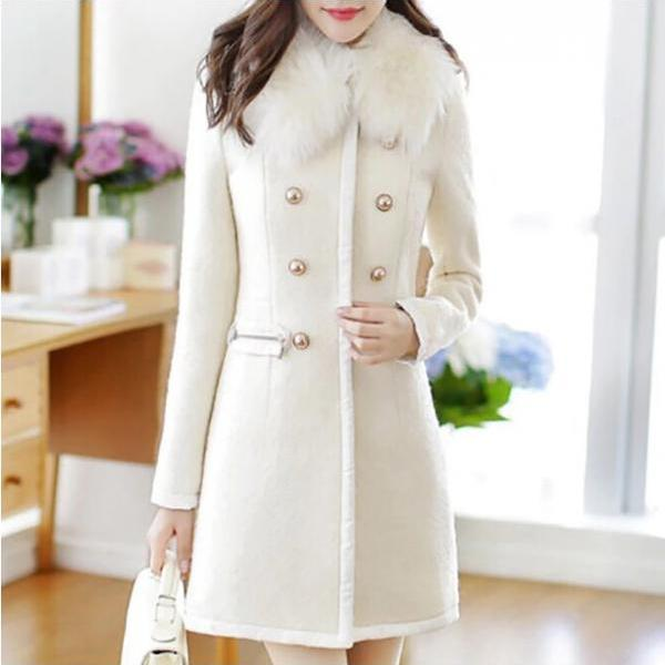Chic Turn Down Collar Woolen Winter Coat