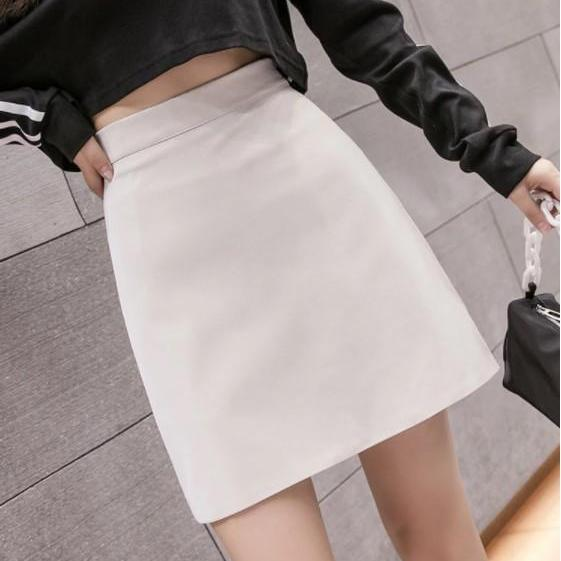 Sexy High Waist PU Leather Skirts
