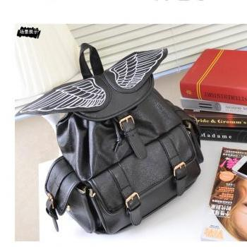 Angel Wings Black Backpack