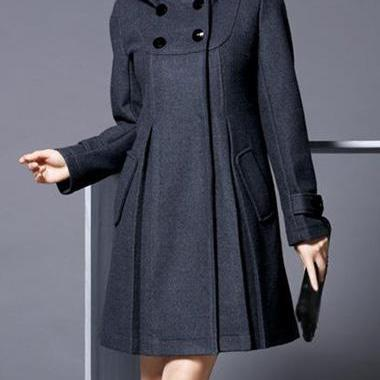 Chic Woolen Warm Winter Coat