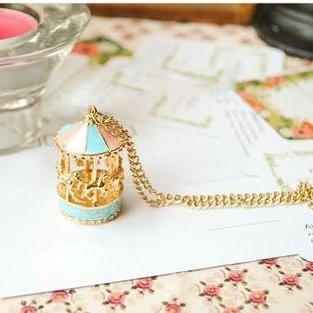 Cute Carousel Charmed Necklace