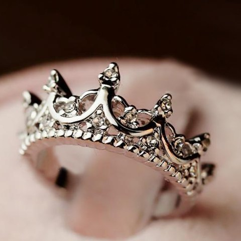 Cute Diamante Crown Shaped Ring