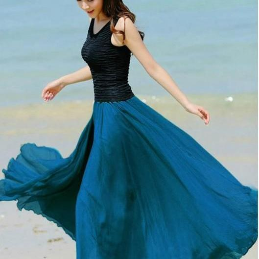 Bohemian Chiffon Long Skirts