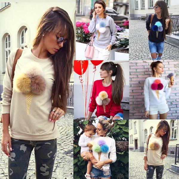 Gorgeous Ice Cream Pullover Sweater Hoodies for Women