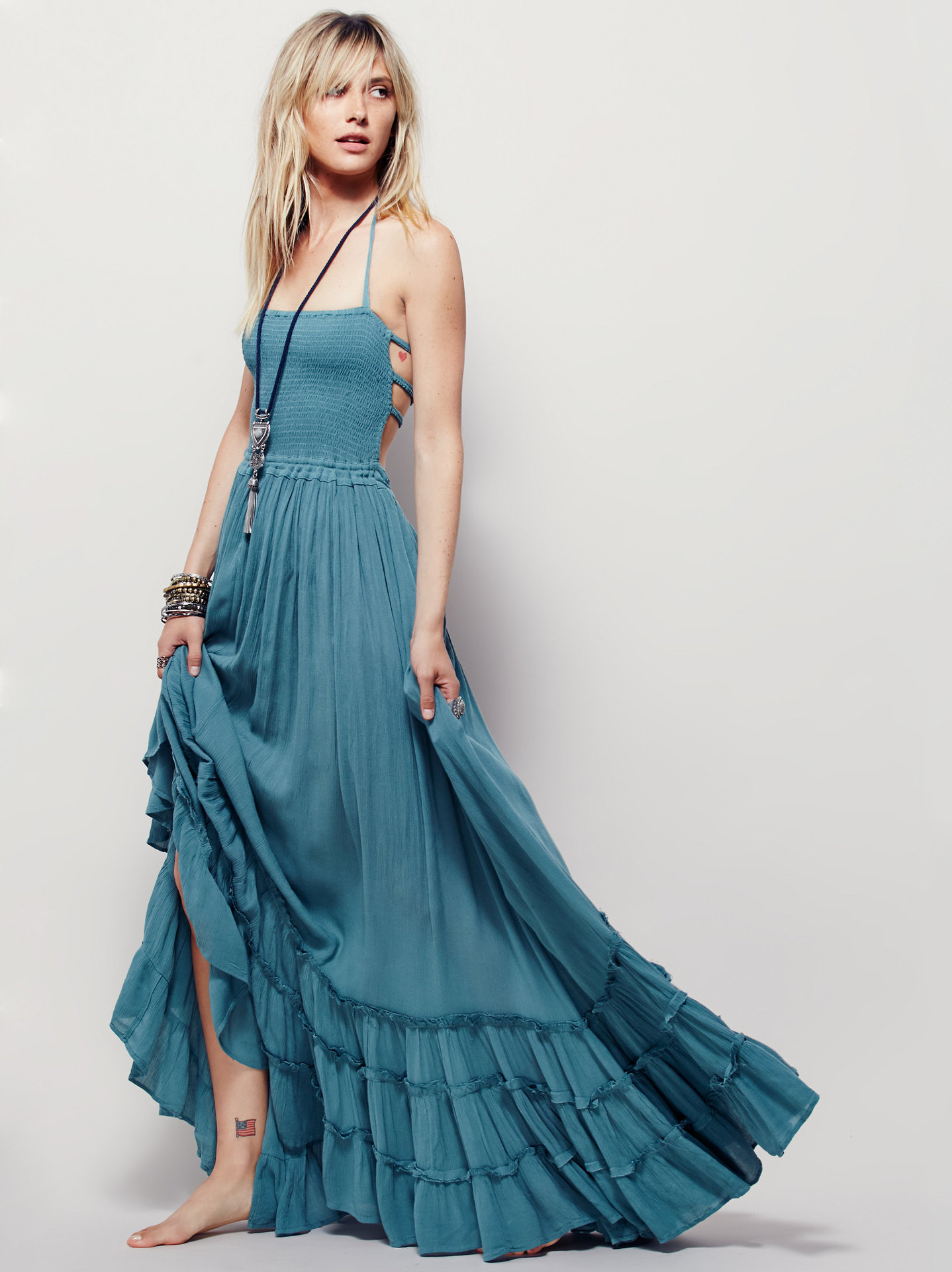 Summer Bohemian Sleeveless Long Dress on Luulla